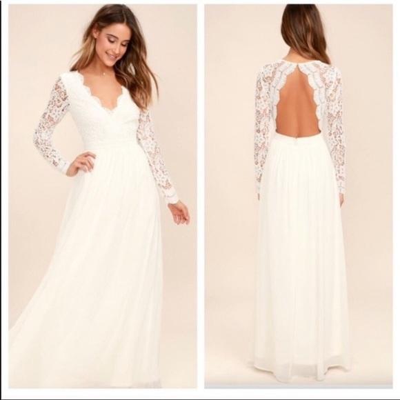 Lulu's Dresses & Skirts - SOLD Lulu's Awaken My Love Lace Wedding Dress S